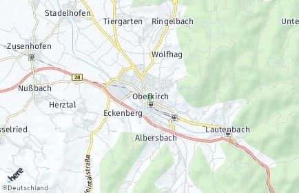 Stadtplan Oberkirch (Baden)