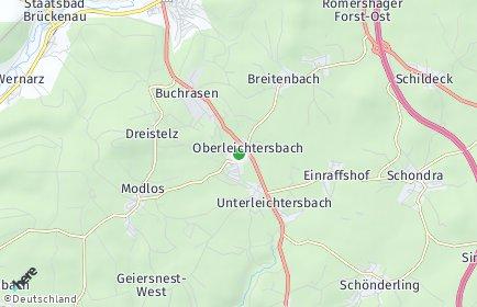 Stadtplan Oberleichtersbach
