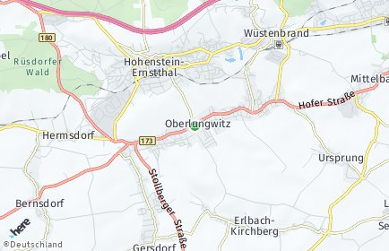 Stadtplan Oberlungwitz