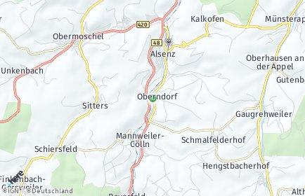 Stadtplan Oberndorf (Pfalz)