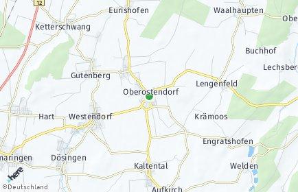 Stadtplan Oberostendorf