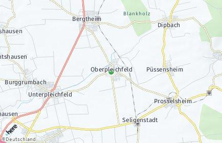 Stadtplan Oberpleichfeld
