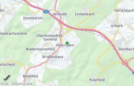 Stadtplan Oberraden