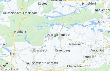 Stadtplan Oberreichenbach (Mittelfranken)