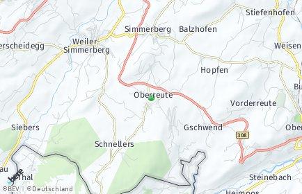 Stadtplan Oberreute