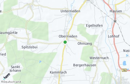 Stadtplan Oberrieden