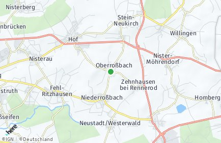 Stadtplan Oberroßbach