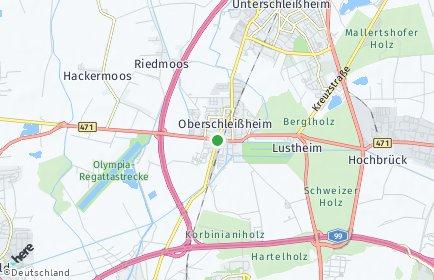 Stadtplan Oberschleißheim OT Mittenheim
