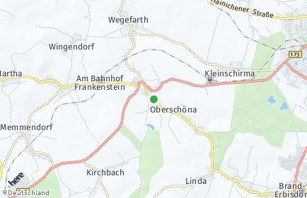 Stadtplan Oberschöna