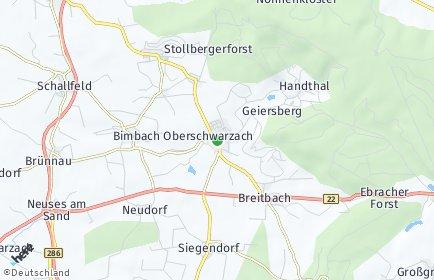 Stadtplan Oberschwarzach