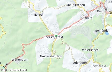 Stadtplan Oberstadtfeld