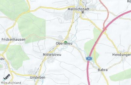 Stadtplan Oberstreu