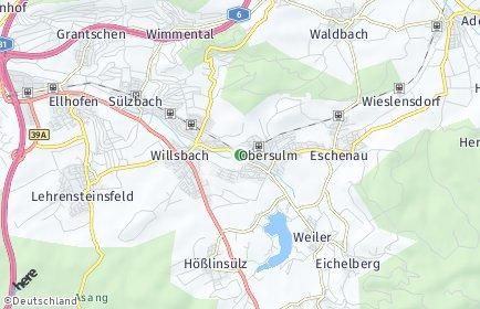Stadtplan Obersulm