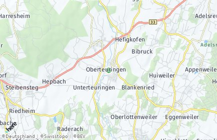 Stadtplan Oberteuringen