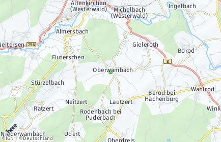 Stadtplan Oberwambach