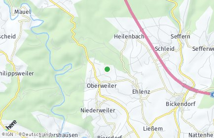Stadtplan Oberweiler