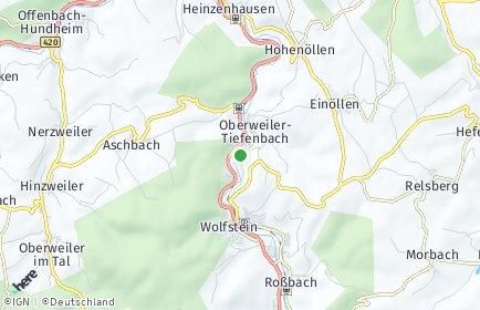 Stadtplan Oberweiler-Tiefenbach