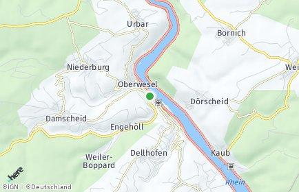 Stadtplan Oberwesel