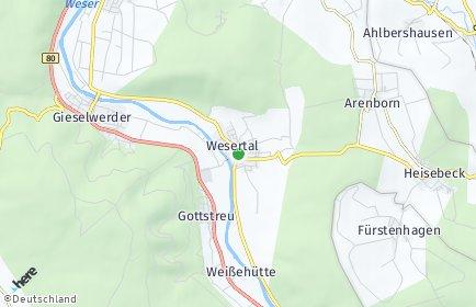 Stadtplan Wesertal