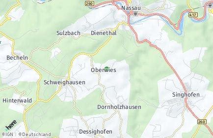 Stadtplan Oberwies