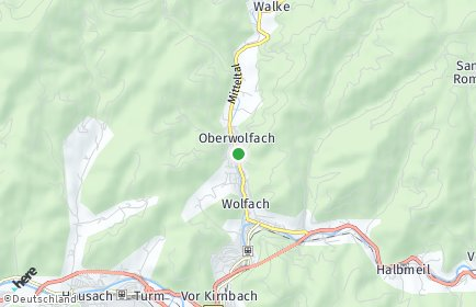 Stadtplan Oberwolfach