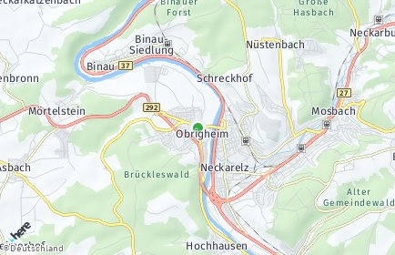 Stadtplan Obrigheim (Baden)
