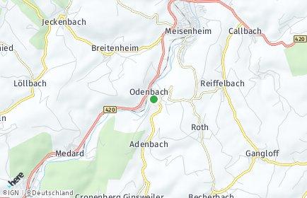 Stadtplan Odenbach