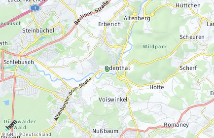 Stadtplan Odenthal