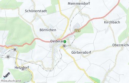Stadtplan Oederan