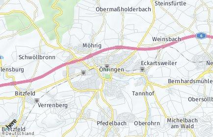 Stadtplan Öhringen