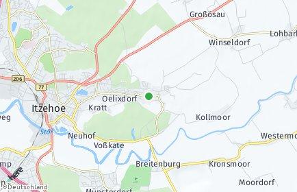 Stadtplan Oelixdorf