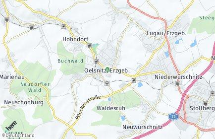 Stadtplan Oelsnitz/Erzgebirge OT Waldesruh