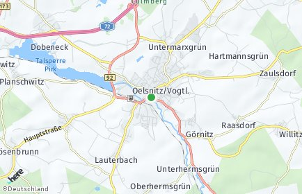 Stadtplan Oelsnitz (Vogtland)