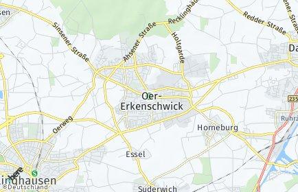 Stadtplan Oer-Erkenschwick