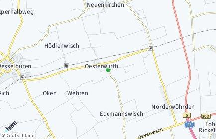 Stadtplan Oesterwurth