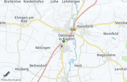 Stadtplan Oettingen in Bayern