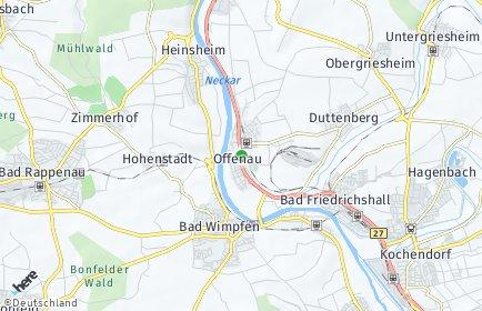 Stadtplan Offenau