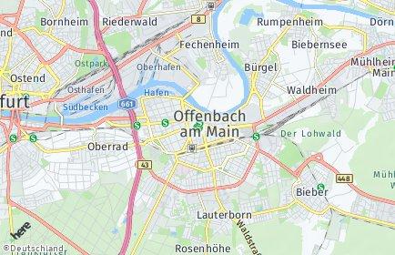 Stadtplan Offenbach am Main OT Waldheim