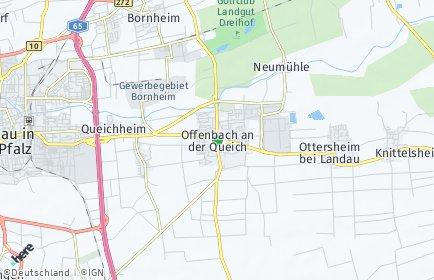 Stadtplan Offenbach an der Queich