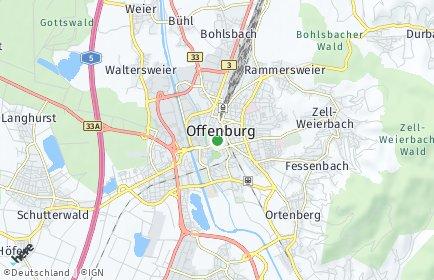 Stadtplan Offenburg OT Südoststadt