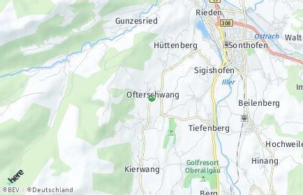 Stadtplan Ofterschwang