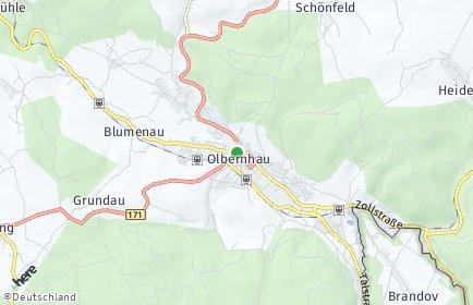Stadtplan Olbernhau