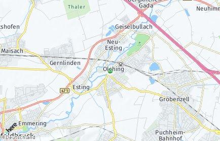 Stadtplan Olching