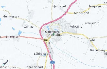 Stadtplan Oldenburg in Holstein