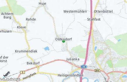 Stadtplan Oldendorf (Holstein)