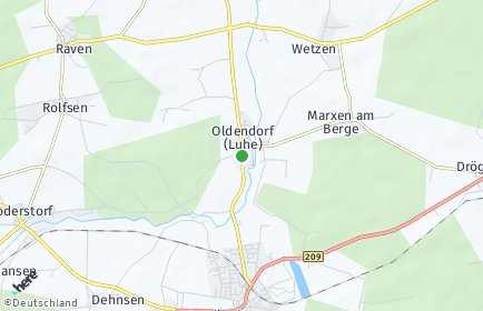 Stadtplan Oldendorf (Luhe)