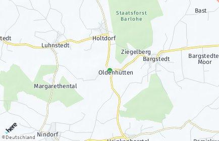 Stadtplan Oldenhütten