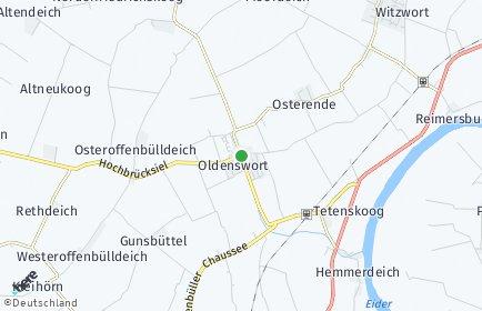 Stadtplan Oldenswort