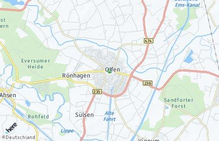Stadtplan Olfen