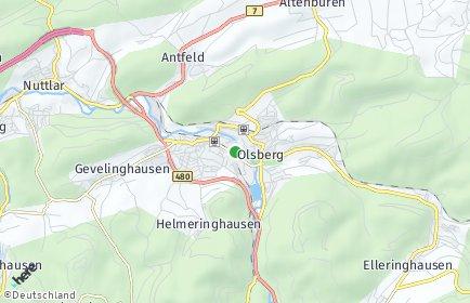 Stadtplan Olsberg